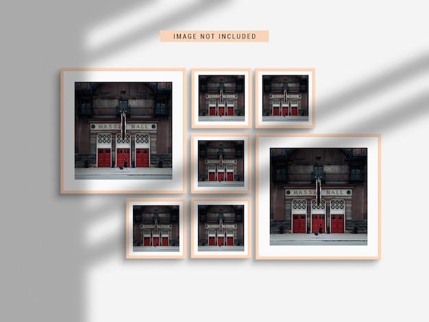Realistyczna makieta ramki na zdjęcia z cieniem