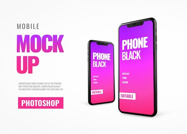 Realistyczna makieta reklamowa na smartfony