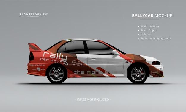 Realistyczna makieta samochodu rajdowego widok z prawej strony