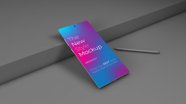 Realistyczna makieta smartfona. czysta makieta smartfona