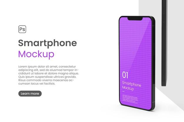 Realistyczna makieta smartfona do promocji aplikacji
