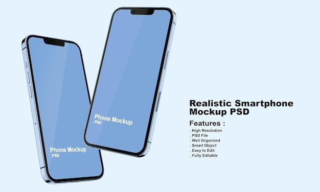 Realistyczna makieta smartfona premium