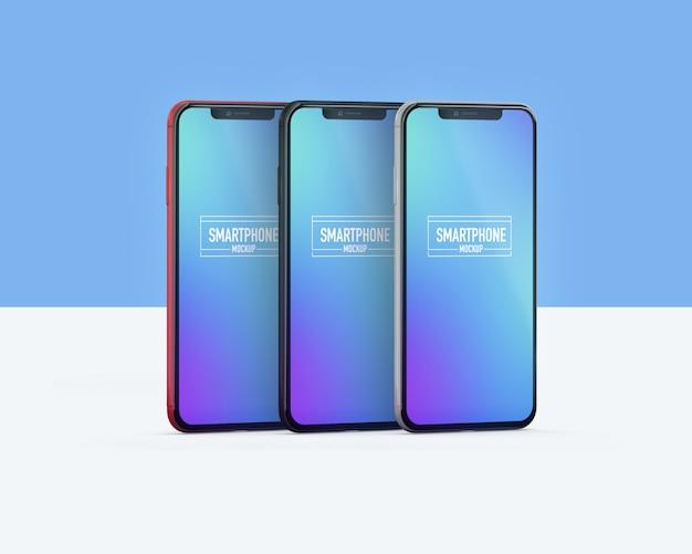 Realistyczna makieta smartfona. wyczyść makietę smartfona