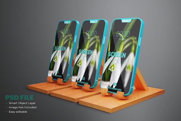Realistyczna makieta smartfona