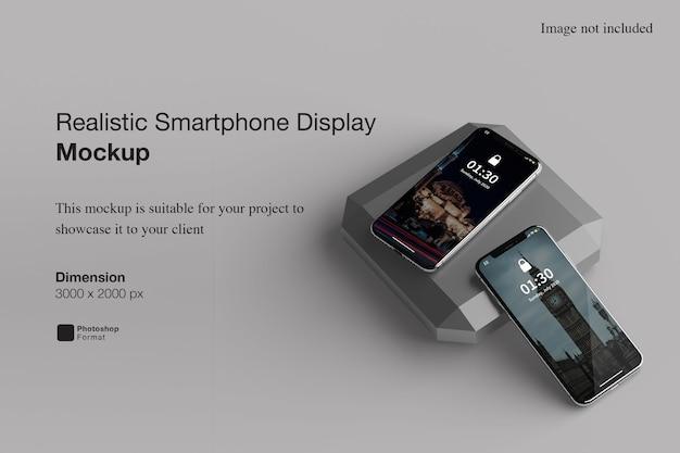Realistyczna makieta wyświetlacza smartfona