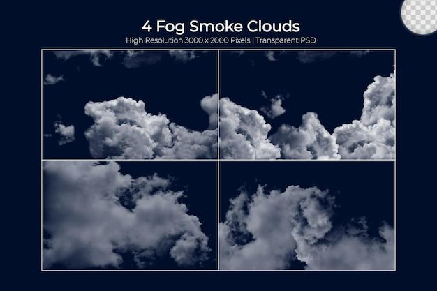Realistyczna mgła para mgła chmury se
