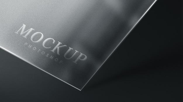 Realistyczna minimalna luksusowa makieta szklanej płyty