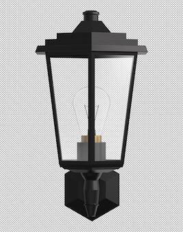 Realistyczne 3d lampy uliczne na białym tle