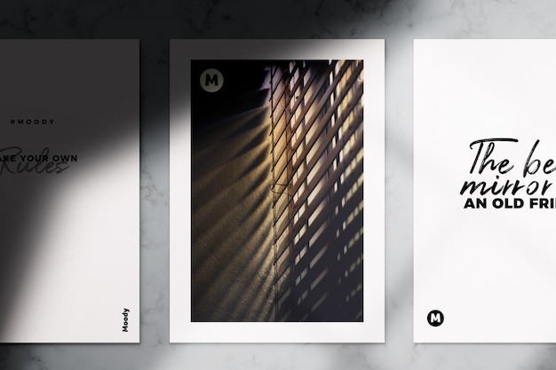 Realistyczne a4 ulotki i broszury makieta