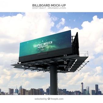 Realistyczne billboard makieta