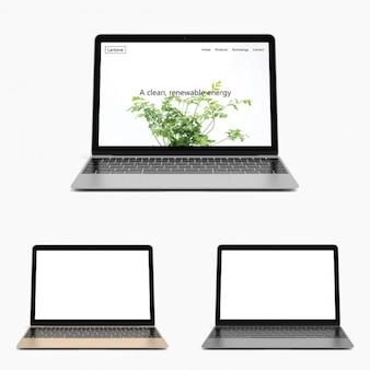Realistyczne laptop makiety