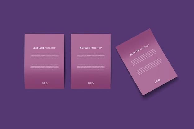 Realistyczne makiety broszur ulotek