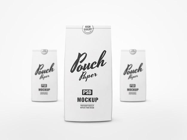 Realistyczne makiety torebki z białą żywnością