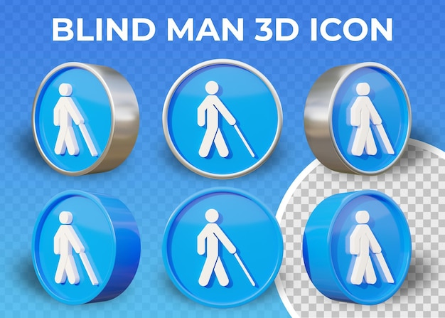 Realistyczne płaskie 3d niewidomy ikona na białym tle