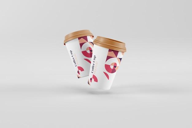 Realistyczne, przydatne i stylowe makiety filiżanek kawy
