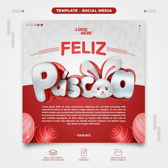 Realistyczne renderowanie 3d realistyczny model mediów społecznościowych w brazylii
