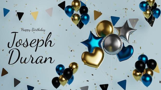 Realistyczne tło z życzeniami urodzinowymi