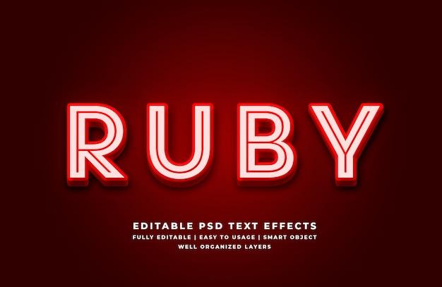 Realistyczny efekt papieru prasowanego 3d w stylu tekstu