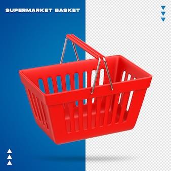 Realistyczny kosz z supermarketu