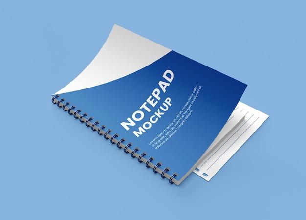 Realistyczny notatnik w twardej oprawie spiralnej lub makieta zeszytu
