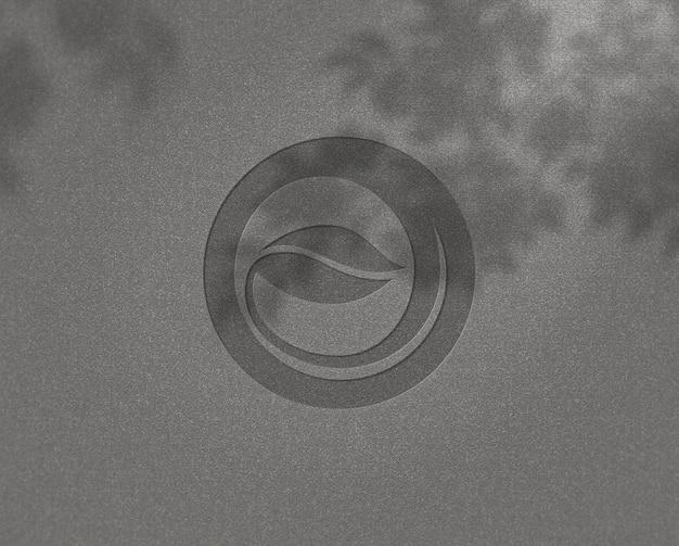 Realistyczny piękny projekt makiety logo