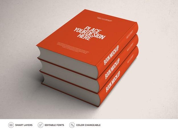 Realistyczny projekt makiety książki w twardej oprawie