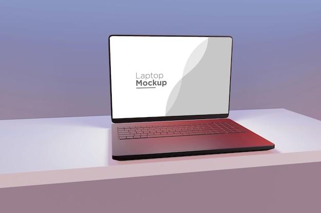Realistyczny projekt makiety laptopa