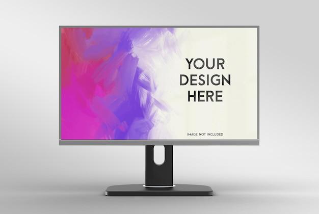 Realistyczny projekt makiety monitora 3d