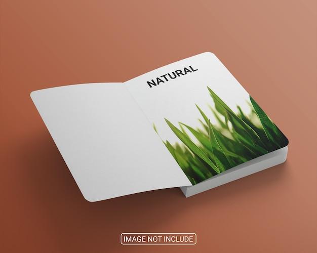 Realistyczny projekt makiety okładki książki dla biznesu