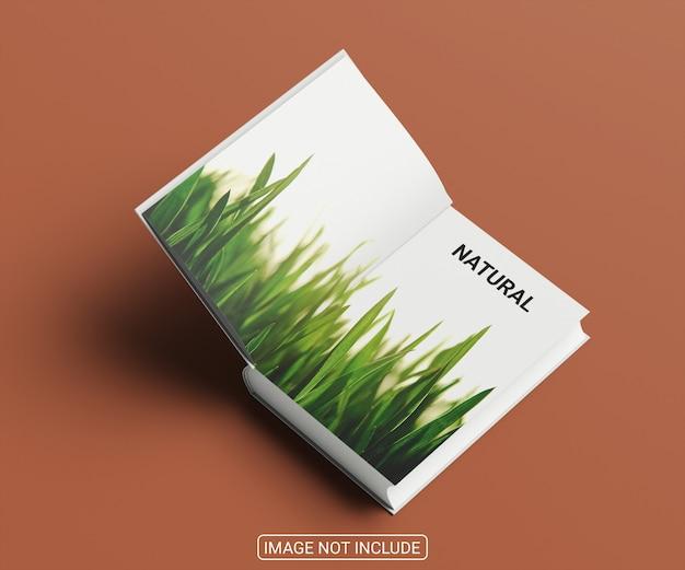 Realistyczny projekt makiety okładki książki