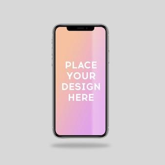 Realistyczny projekt makiety smartfona