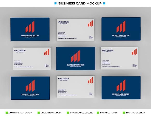Realistyczny projekt makiety wizytówki papieru