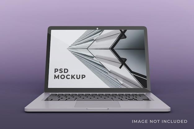 Realistyczny projekt makiety wyświetlacza laptopa