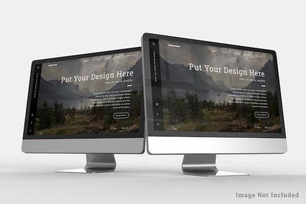Realistyczny projekt pulpitu mockup design