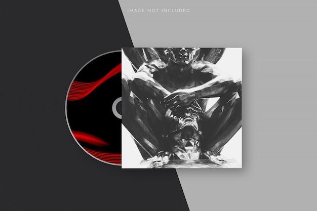 Realistyczny projekt szablonu okładki dysku cd