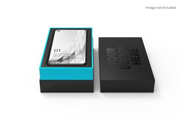 Realistyczny Smartfon Z Makietą Pudełka Premium Psd