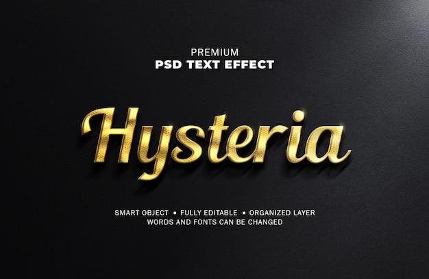 Realistyczny styl blasku złota ralistyczny efekt tekstowy