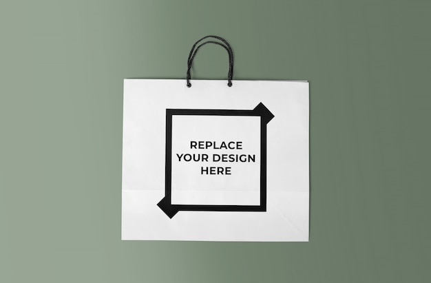 Realistyczny szablon makieta torba na zakupy