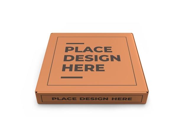 Realistyczny szablon makiety pudełka po pizzy na białym tle