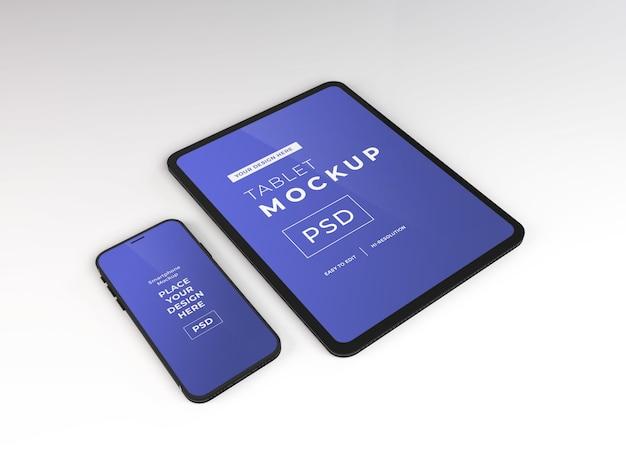 Realistyczny szablon makiety smartfona i tabletu