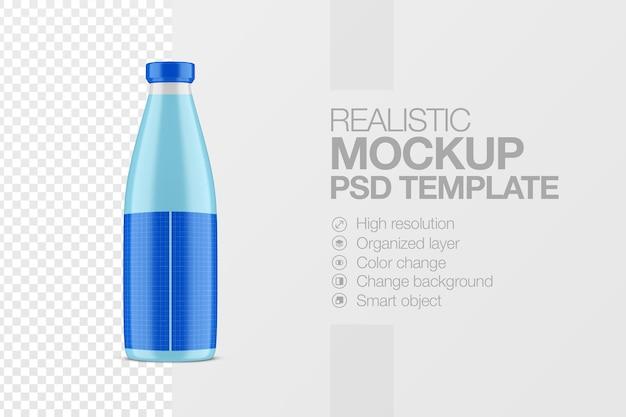 Realistyczny szablon makiety szklanej butelki soku