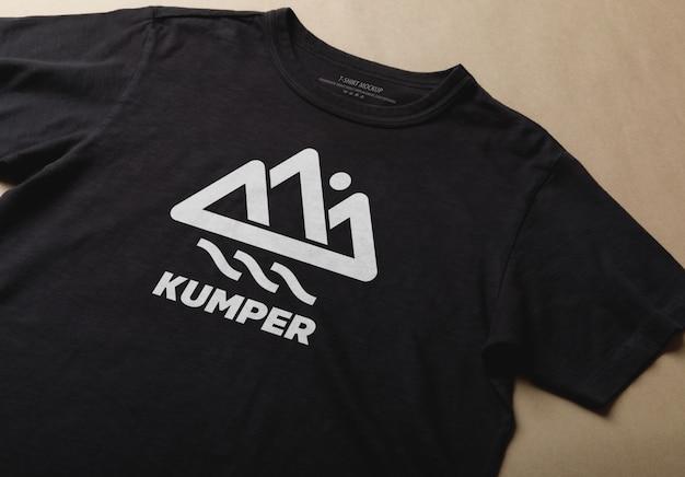 Realistyczny szablon makiety twórca sceny czarny t-shirt