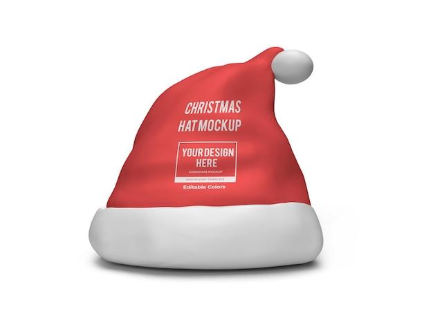 Realistyczny szablon świąteczny kapelusz makieta na białym tle