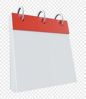 Realistyczny wiszący kalendarz na białym tle