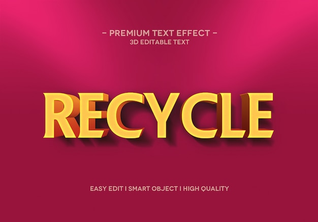 Recykling szablonu stylu efektu tekstowego