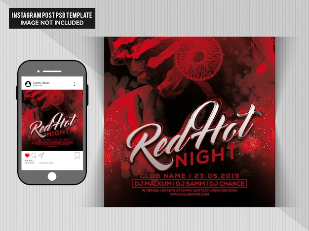 Red hot party flyer