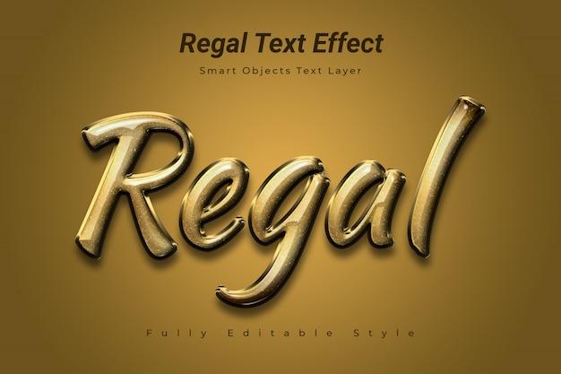 Regal text effect