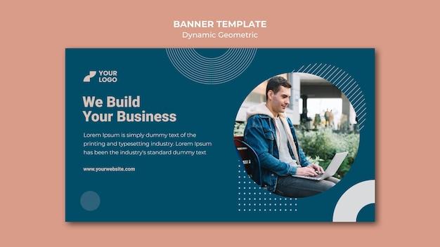 Reklama biznesowa z szablonem banera