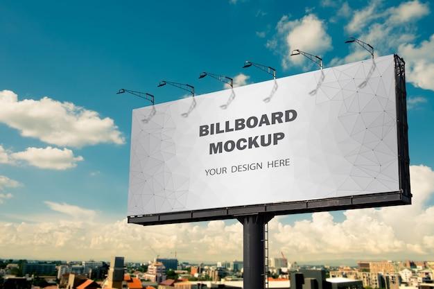 Reklama makieta billboardu na zewnątrz