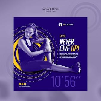 Reklama technologii sportowej z dopasowaną kobietą